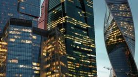 Hyperlapse d'horizon de ville de Moscou clips vidéos