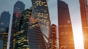 Hyperlapse d'horizon de ville de Moscou banque de vidéos