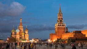 Hyperlapse da noite do quadrado vermelho, Moscou filme