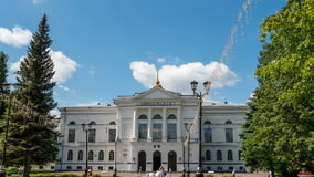 Hyperlapse da universidade estadual de Tomsk video estoque