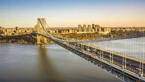 Hyperlapse de George Washington Bridge banque de vidéos