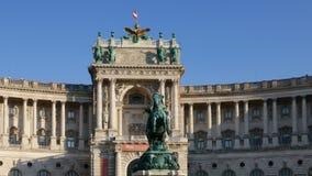 Hyperlapse de Hofburg, Viena almacen de video