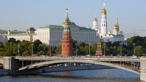 Hyperlapse de Moscú el Kremlin almacen de metraje de vídeo