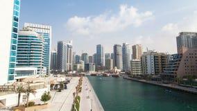 Hyperlapse del puerto deportivo de Dubai almacen de metraje de vídeo