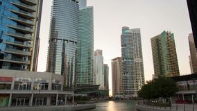 Hyperlapse del puerto deportivo de Dubai metrajes