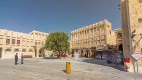 Hyperlapse del timelapse de Souq Waqif en Doha, Qatar metrajes