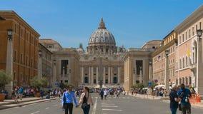 Hyperlapse del Vaticano, basílica del ` s de San Pedro, basílica de San Pedro, opinión de la ciudad de Roma, Roma, Italia almacen de metraje de vídeo
