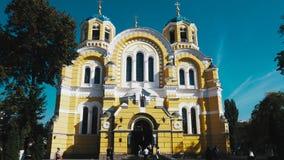 Hyperlapse della cattedrale del ` s della st Volodymyr video d archivio