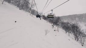 Hyperlapse Elevatore dello sci per trasporto video d archivio