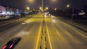 Hyperlapse en el movimiento almacen de metraje de vídeo