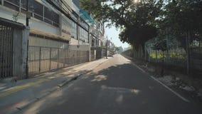Hyperlapse en los caminos de la ciudad de Jakarta indonesia metrajes