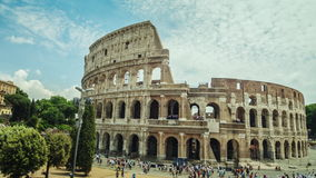 Hyperlapse: The famous Colosseum, a popular place among tourists around the world. World sights. Motion timelapse. The famous Colosseum, a popular place among stock footage