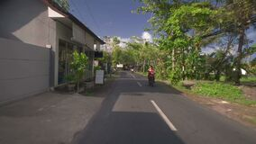 Hyperlapse gata i Bali stock video
