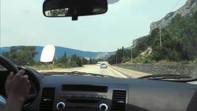 Hyperlapse Het berijden in een auto op een bergweg stock footage