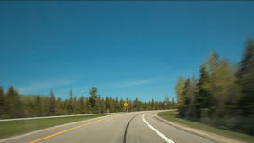 Hyperlapse Highway Drive stock video footage