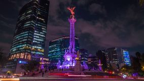 Hyperlapse of the Independence Angel monument. stock video footage