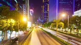 hyperlapse 4k Video einer verkehrsreichen Straße in Hong Kong stock video