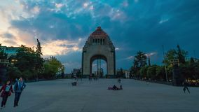 Hyperlapse of the Mexican Revolution monument. stock video