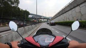 Hyperlapse que monta uma motocicleta filme
