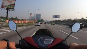 Hyperlapse que monta una motocicleta almacen de video