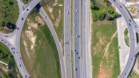 Hyperlapse ruchu drogowego wstępujący widok zbiory wideo