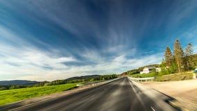 Hyperlapse serpentine road in Norway. 4k hyper lapse footage. stock footage