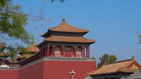 Hyperlapse sköt av en inre del av Forbiddenet City - forntida slott av Kina kejsare lager videofilmer