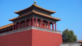 Hyperlapse sköt av en inre del av Forbiddenet City - forntida slott av Kina kejsare arkivfilmer
