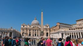 Hyperlapse of St. Peter`s Square, Basilica of Saint Peter, Best view of Rome, Italy. Hyperlapse of The Vatican, St. Peter`s Basilica, Basilica of Saint Peter stock video footage