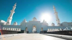 Hyperlapse timelapse шейха Zayed Грандиозн Мечети расположенное в Абу-Даби акции видеоматериалы