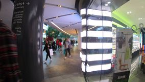 Hyperlapse video of Kanyon shopping center in Levent business district of Istanbul, Turkey stock video