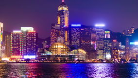 Hyperlapse-Video von Hong Kong von Tag zu Nacht stock video