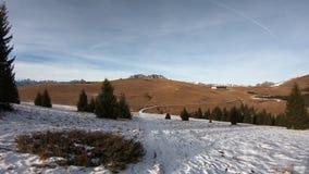 Hyperlapse walking at Monte Pora area in winter dry season. Orobie alps, Bergamo, Lombardy, Italy. Hyperlapse walking at Monte Pora area in winter dry season stock video