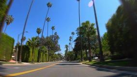 Hyperlapseaandrijving door Beverly Hills stock footage