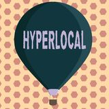 Hyperlocal ordhandstiltext Affärsidé för om att angå en liten gemenskap eller ett geografiskt område vektor illustrationer