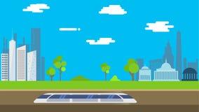 Hyperloop który iść od Nowy Jork Waszyngton w płaskim projekcie ilustracja wektor