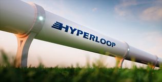Hyperloop trans.begrepp Royaltyfri Bild