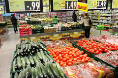 Hypermarché de Kaufland Photographie stock