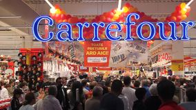 Hypermarket Carrefour Vulcan uroczysty otwarcie Obraz Royalty Free