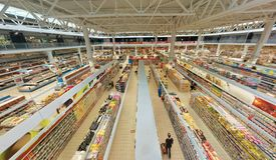 hypermarket inside obrazy royalty free