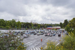 Hypermarket parking Royalty Free Stock Photography