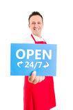 Hypermarket, supermarket or store open 24 7 Stock Photography