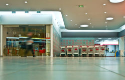 Hypermarket vestibule Royalty Free Stock Images