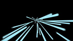 Hyperspace Blue lines. Seamless loop. HD Resolution stock footage