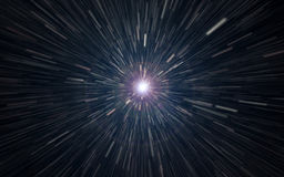 Hyperspace jump. Hyperspace jump through the universe Stock Photography