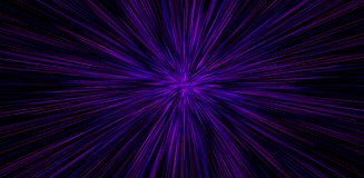 Hyperspace motion in galaxy. Concept of intergalactic travel. Starburst stock illustration