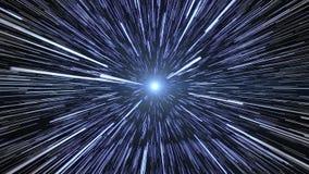 Hyperspace podróż Fotografia Royalty Free