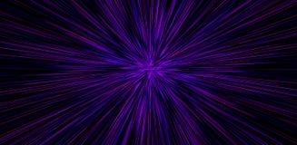 Hyperspace rörelse i galax Begrepp av det intergalactic loppet Starburst stock illustrationer
