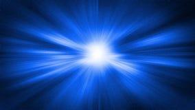 Hyperspace rörelse i stjärnaslingan, illustration Royaltyfri Foto