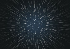 Hyperspace speed travel background Royalty Free Stock Photos